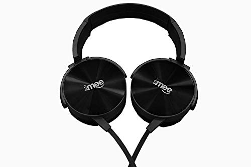 iMee Rock Star On-Ear Extra Bass Light Weight Headphones (Black) Stereo Stylish Wired Headphones for Mobile with mic