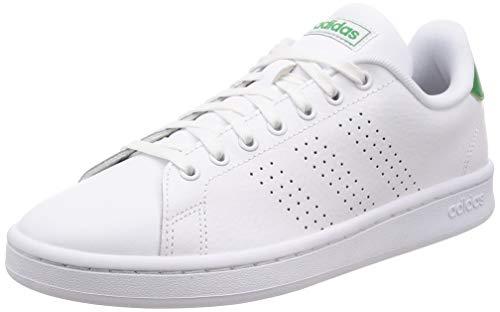 adidas Advantage Scarpe da Tennis Uomo, Bianco Ftwbla/Verde 000, 41 1/3 EU