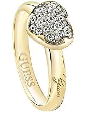 Guess Damen-Ring HEARTSHELTER Kristall weiß Gr. 56 (17.8)-UBR72502-56