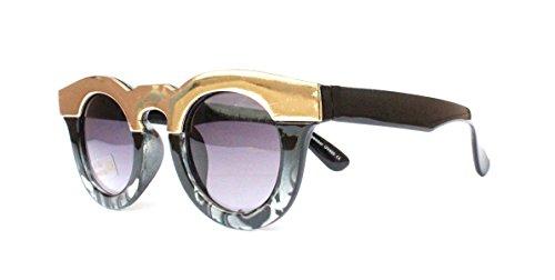 Sommerbrille Sonnenbrille im angesagten 60er retro neue Gold blau schwarz Kollektion Vintage Style