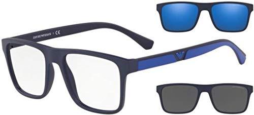 Ray-Ban Herren 0EA4115 Sonnenbrille, Grau (Matte Dark Blue), 54