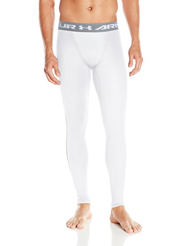 Under Armour Ua Cg Armour Leggings Herren Fitness - Hosen & Shorts, 1265649, Weiß (White/Steel), L (Hose Herren Elastische)