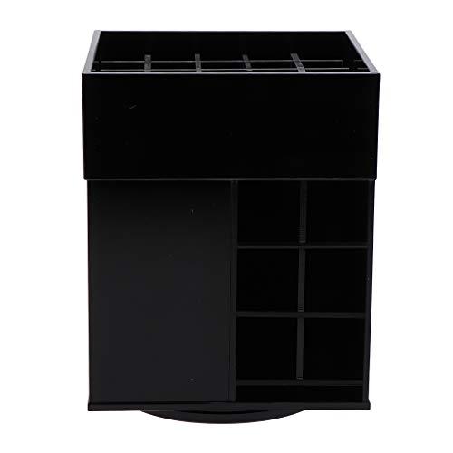 IPOTCH Organisateur de Maquillage Présentoir de Maquillage Comptoir de Maquillage Coffre à Bijoux Boîte Rotatif 360 Acrylique - Black 49 Slot