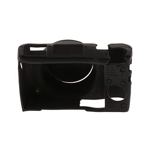 FLAMEER Kamera Silikon-Hülle Weiche Kamera-Abdeckung für Sony DCS-RX100 M3 / 4/5-Kameras Vollschutz - Schwarz