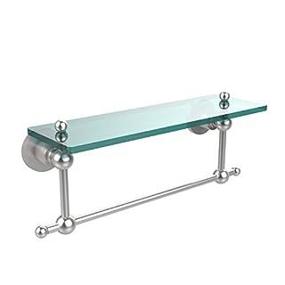Allied Brass Ap-1Tb/16-Sch Glass Shelf With Towel Bar, 16-Inch X 5-Inch