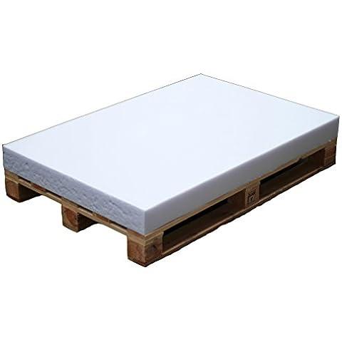 4L textil Pallet cojín colchón (120x 80x 8) espuma para Euro Pallet–³/38fijo, Blanco,