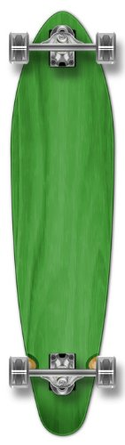 Yocaher Punk gebeizt Kicktail komplett Longboard Skateboard, grün