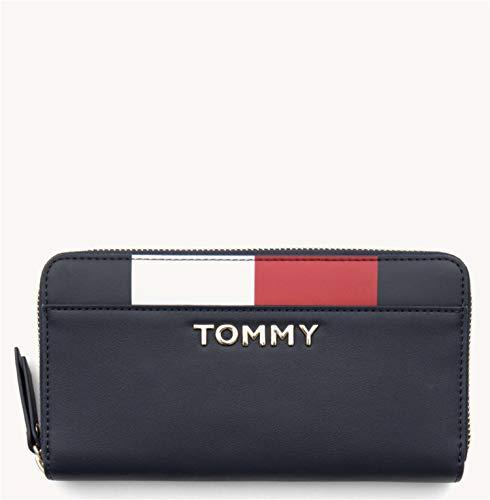 Tommy Hilfiger Damen Th Corporate Lrg Za Geldbörse, Blau (Tommy Navy), 1x1x1 cm