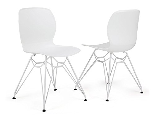 GARAGEEIGHT Stuhl Rietia Weiß 2er-Set