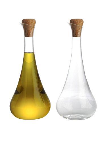Typhoon Lot de 2 Verre d'huile d'olive de Cygne Drizzlers, Transparent