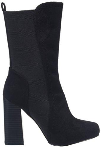 Boohoo Elastic Midi Sock, Bottes Classiques femme Black (Black Micro)