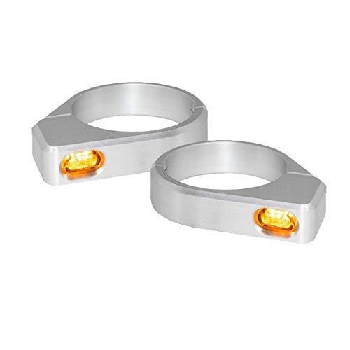 Blinker Motorrad LED Micro Festsetzung Gabel DIAM-54 mm - 56 mm Alu -