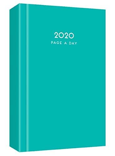 MantraRaj 2020 - Agenda de 2020, tamaño A5, diseño de página al día, para oficina, hogar, viajes, organización, citas, color turquesa