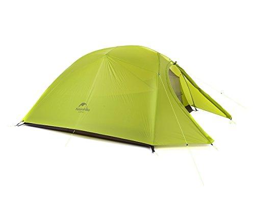 Naturehike Cloud-up Ultraleichte 3 Personen Rucksackreisen Zelt doppelten Wasserdicht Camping Zelt (20D Hellgrün)