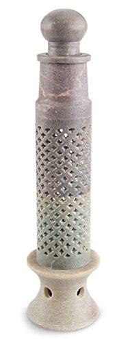 rauchersaule-taj-mahal-aus-naturlichem-speckstein-grau-31-x-75-cm-mit-kleinen-kreuz-ausstanzungen-ha