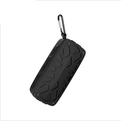 Drahtlose TWS Bluetooth Lautsprecher, Dual Units Portable Outdoors Enhanced Bass Audio Stereo Subwoofer Sound Auti-Impact, Stand by Fm Radio Tf Card,Black -