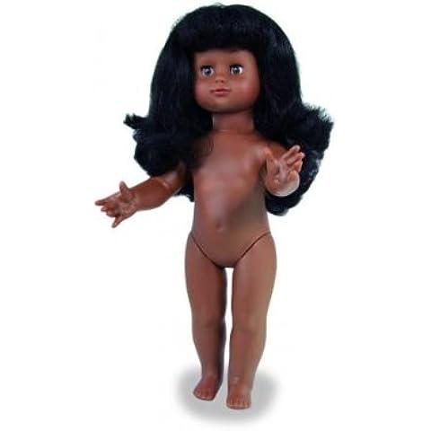 Petitcollin Emilie desnuda de la muñeca con el pelo largo (Negro)