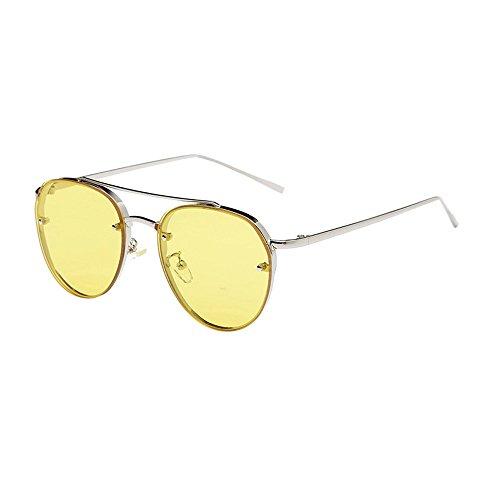 Honestyi Damenmode Rund Sonnenbrille Metallrahmen Marke Classic Tone Mirr BZ097 Sonnenbrillen für Damen