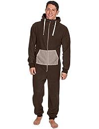 Bitriddis Men Women Adult Pajamas Sportswear Hooded Unisex Jumpsuit 5b85ce831c44c