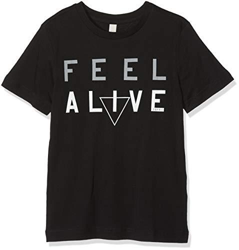 ESPRIT KIDS Jungen T-Shirt RM1022609, Schwarz (Black 020), 164 (Herstellergröße:L)