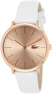 Lacoste Women's Analogue Quartz Watch with Leather Calfskin Strap 200