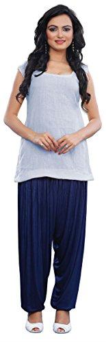 Harem Patiala Damen Baggy Pants Fashion Indische Kleidung (Blau) (Hose Kameez)