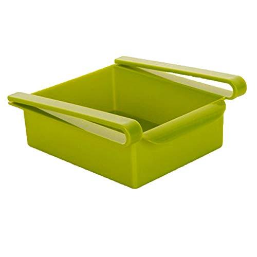 Winwinfly Kitchen Kühlschrank Aufbewahrungsbox Organizer Obst Pull-out Schublade Box Korb Rack Ständer Container, grün (Pull-out-körbe)