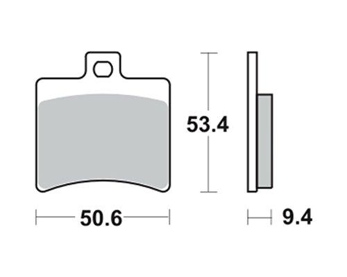 Bremsbeläge TRW MCB710 für APRILIA SR 50 R 04- (hinten)