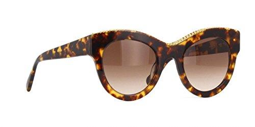 Stella mccartney sc0018s 006, occhiali da sole unisex-adulto, marrone (006-avana/brown), 50