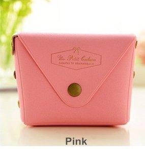 Huertuer Mini Candy Farbe Süßem Portemonnaie Schleife Kont Print Coin Geldbörse Beutel für Frauen Mädchen (Pink)