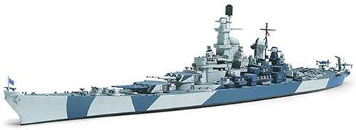 Tamiya 300031616 - WL US Kriegsschiff BB-61 Iowa, Militär-Bausatz 1:700