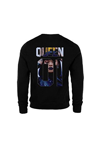 KING & QUEEN - SWEAT COL ROND QUEEN 01 - Queen Riri Noir