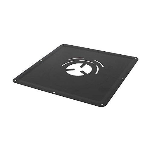 Plaque de propreté 300x300 mm inox émail noir mat Diamètre 80 pour poêles à Pellets - 126080