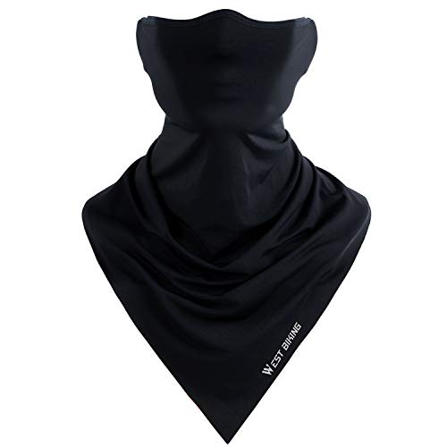 WESTGIRL Sommer Gesichtsmaske UV-Schutz, Atmungsaktives staubdichtes sonnengeschütztes Kopftuch Winddichte Kopfbedeckung für Outdoor-Sportarten Radfahren Laufen Motorradfahren Wandern Angeln