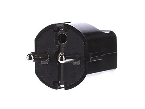 Preisvergleich Produktbild Bachmann Zentralstecker Schutzkontakt, 910170 Schwarz