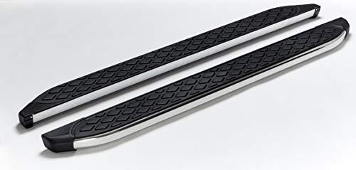 Trittbretter passend für Isuzu D-Max ab Baujahr 2012 Model Hitit in Chrom mit TÜV und ABE