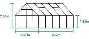 Halls, Farbe: Forest-Grün Universal, 10 m X 8 m BREITE-Länge: Verglasung für Gewächshaus, verstärktes Glas Scheibe
