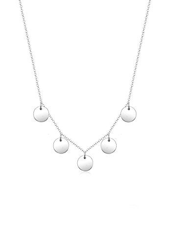 Elli Damen-Kette mit Anhänger Kreis 925 Silber 45 cm - 0101383117_45