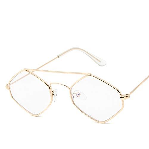 WZYMNTYJ Sonnenbrille Frauen Männer Sonnenbrille Kleine Brillen Eyewear Hexagon Polygon Shade HD Weibliche Moderne Unisex Mode