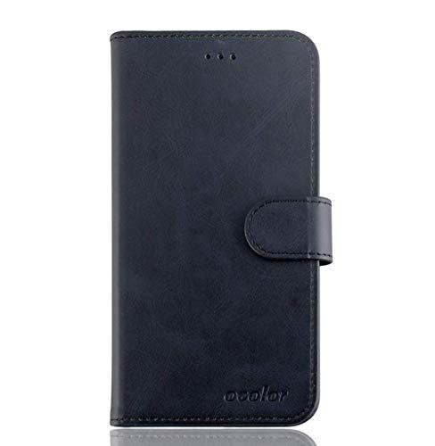 AVIDET UMIDIGI One Max Hülle, PU Leder Wallet Case Flip Schutzhülle mit Magnet Kartenfächer Standfunktion Handyhülle für UMIDIGI One Max (Schwarz)
