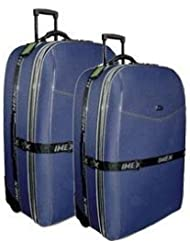 2-tlg LUXUS TROLLEY SET KOFFERSET KOFFER Gr. XXL+XL * BLAU *