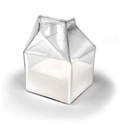 CWeep 300ML Half Pint Creamer Milk Clear Glass,Large Capacity Hiball Tumbler Glasses Crystal Hi-Ball Cocktail Water Tumblers Glasses for Beverage, Drinking, Juice, Milk Beverage (Transparency1) Crystal Water Tumbler