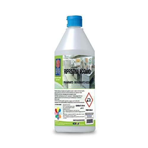 Rinnova acciaio inox detergente professionale per superfici in acciaio inox - flacone da 1 litro