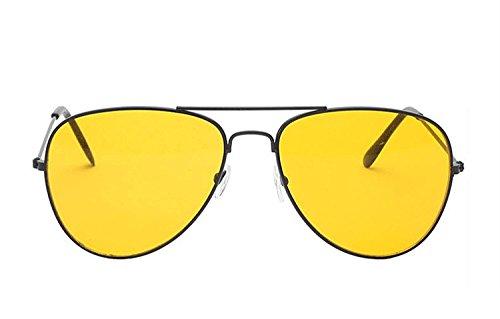 RAZMAZ Aviator Classic Stylish Branded Yellow Black Sunglass with UV400 - RZ2105