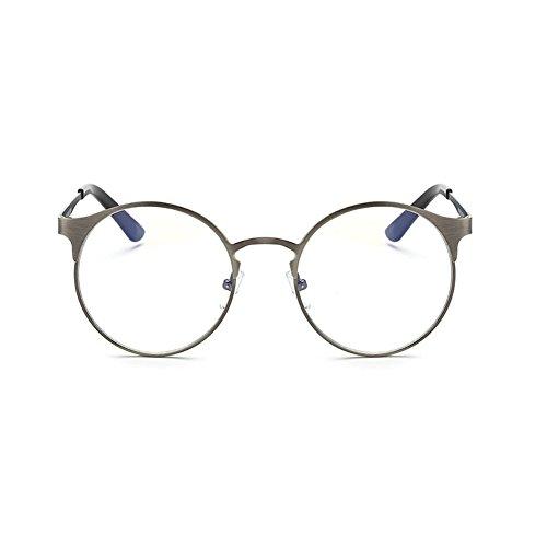 Dintang 2017 hat eine Persönlichkeit des Metalls Frame Brille, Anti-Blaulicht ohne Stärke Brillenmode Runde