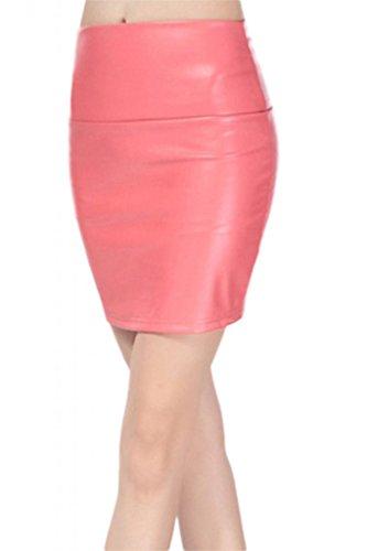 Lotus Instyle Kunstleder Mini röcke Lederrock Rouge