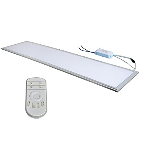 XYD® 40W Variety of light color Remote control dimmer LED Square Recessed Ceiling Panel Down Light Ultra-slim Down Lamp for Dining Room, Living Room, Corridor,Conference Room and Office Lightweight Energy saving XYD300*1200 XYD300*1200T