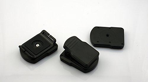 Fosheng Stativhalterung für Casio EX-FR10 EXILIM Kamera, Verschiedene Winkelclips und Gurtband