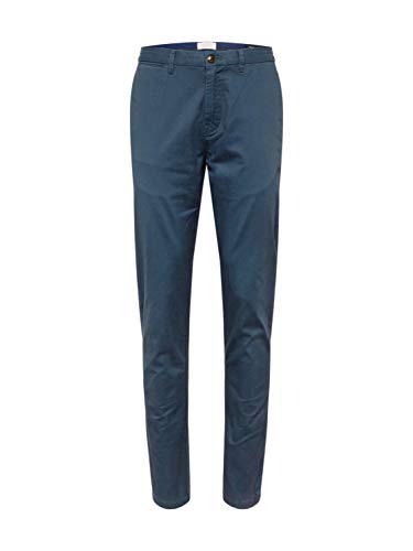 Scotch & Soda Herren NOS Stuart-Classic Regular Slim fit Chino Hose, Grau (Steel 76), W(Herstellergröße: 31/30) Slim Fit Chino