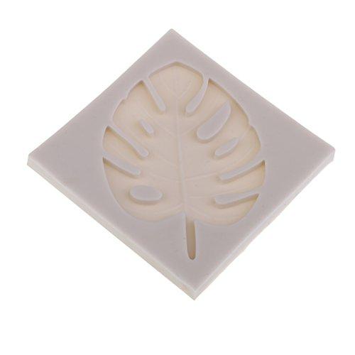 MagiDeal 1 Stücke Blatt Flüssigkeit Silikonform Fondant Torten Kuchen Backform Ausstechformen Kuchen Form